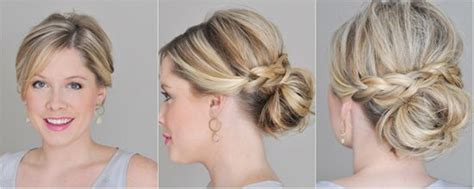 //blog.vpfashion.com/wp-content/uploads/2013/11/braided-messy-bun-by-clip-on Best Hair Dryer For Styling Some Quick Easy Hairstyles Long Cute Medium School How To Do Wavy Frosted Styles Thin Short Bob Thick Natural Twist Kids