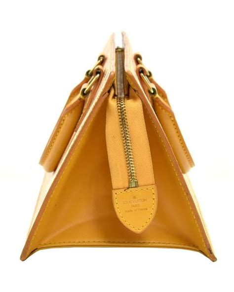 louis vuitton tassil yellow epi leather sac triangle bag  yellow lyst