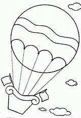 Balloon Coloring Air Printable Largeimages Balloons Popular Coloringhome sketch template