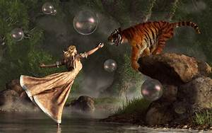 Surreal Tiger Bubble Waterdancer Dream by deskridge on ...