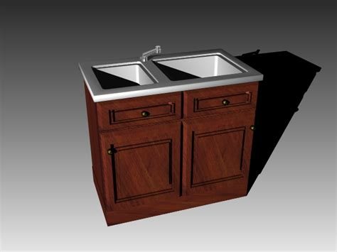 vintage kitchen sink cabinet  model dsmaxdsautocad files   modeling