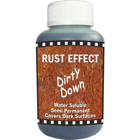 rust pot paint effect water soluble 250ml dirty