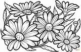 Margaritas Margherite Supercoloring Colorir Desenho Schablonen Sonnenblumen Erwachsenen Blumen Woodburning sketch template