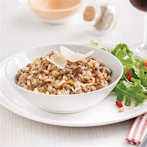 hache de cuisine risotto au boeuf haché soupers de semaine recettes 5