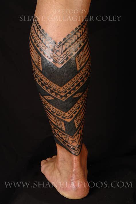 maori polynesian tattoo samoan calf tattoo