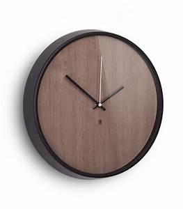 Wall design wood clock madera Umbra wadiga com