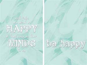 Freebie Friday: Happiness Quote Printable and iPhone ...