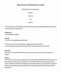 12 memorandum templates free word pdf documents With free sample memorandum of understanding template
