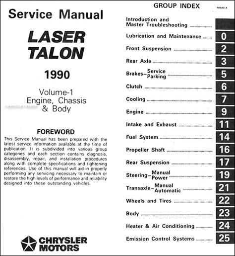 what is the best auto repair manual 1990 pontiac turbo firefly lane departure warning 1990 eagle talon repair shop manual original 2 volume set