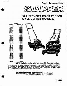 Snapper Lawn Mower V212p User Guide