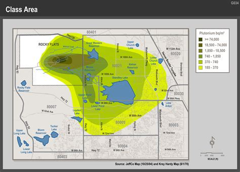 complete rf contamination map rocky flats downwinders