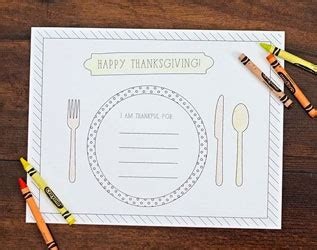 festive ree printable thanksgiving placemats