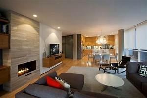 Fernseher An Wand : 34 ideen fr kamin und fernseher an einer wand im gesamten wohnzimmer mit tv und kamin ideen ~ Orissabook.com Haus und Dekorationen