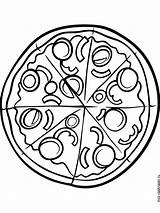 Pizza Coloring Pages Printable Recommended Mycoloring Colors sketch template