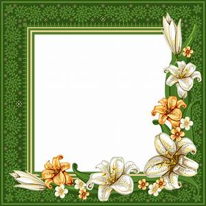 Green Transparent Frame with Flowers | FRAMES | Pinterest ...
