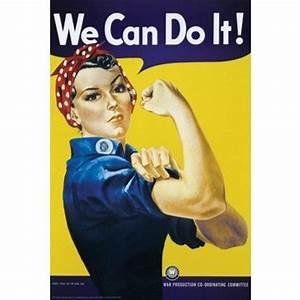 Rosie the Riveter Art Poster Print | HistorY | Pinterest