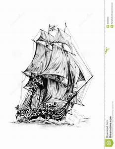 Dessin Fait Main : dessin moteur de mer antique de bateau fait main illustration stock image 40330098 ~ Dallasstarsshop.com Idées de Décoration