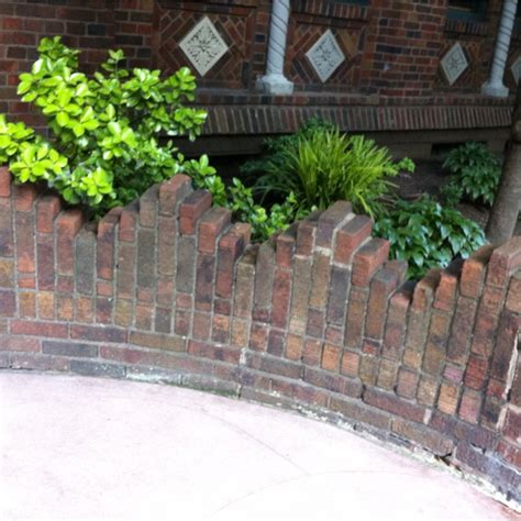 brick wall front yard staggered brick wall design diy home projects pinterest yards front yards and gardens
