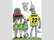 Bender it like Beckham! By campbell Sports Cartoon
