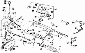 Johnson Steering And Shift Handle Parts For 1991 50hp