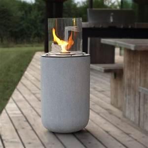 Feuer Kamin Garten : muenkel design boston ethanol feuerstelle beton optik large borosilikatglas feuer und ~ Frokenaadalensverden.com Haus und Dekorationen