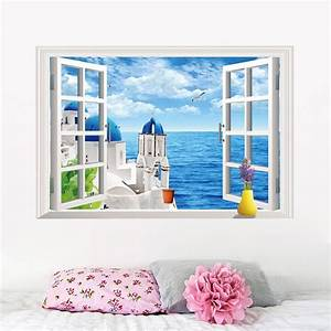 D ocean beach window wall sticker decals room decor vinyl