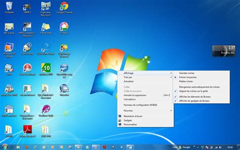 icone bureau windows 7 module 1 initiation exercice clic droit