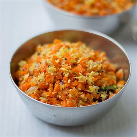 galangal cuisine tamilnadu style carrot poriyal with coconut carrot