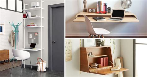 desk ideas for small spaces 16 wall desk ideas that are great for small spaces