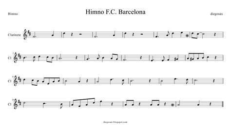 PARTITURAS: Himno del barcelona