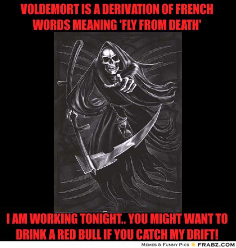Meme Meaning French - voldemort is a derivation of french words meaning fly from death meme generator captionator