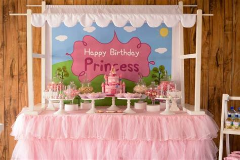 karas party ideas peppa pig princess birthday party