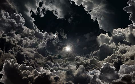 Moon And Clouds Wallpaper by Moon On Cloudy Hd Wallpaper Background Image