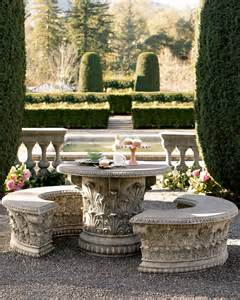 Neiman Marcus Roman Garden Bench