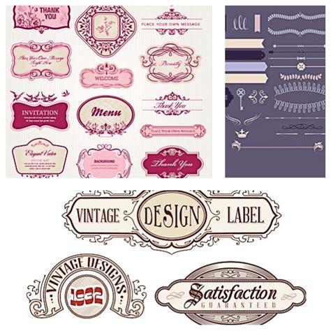 vintage design label set vector