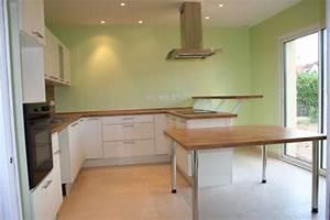 Peinture mur chambre bebe 10 davaus decoration cuisine for Idee deco cuisine avec cuisine gris et vert