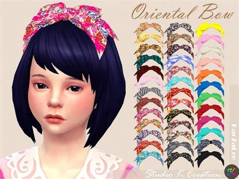 oriental head bow child  studio  creation sims  updates