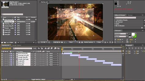 after effects slideshow how to make a slideshow with after effects