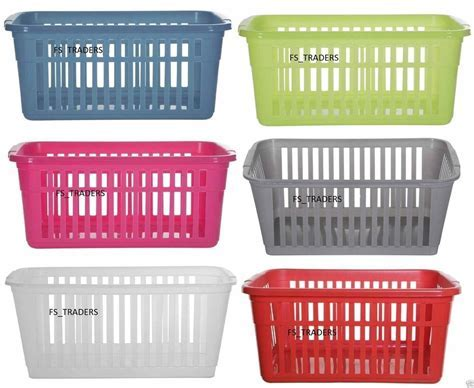 Plastic Pack Of 10 Handy Baskets School Office Kitchen