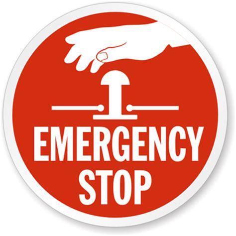 exit button push button emergency stop label emergency label sku lb 1538