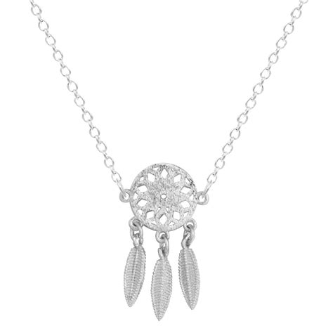 sterling silver dreamcatcher necklace fashion design