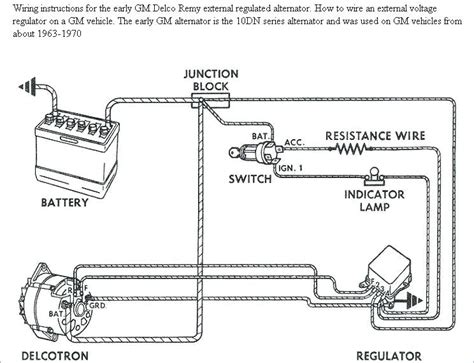 1988 Chevy Truck Alternator Wiring by Chevy One Wire Alternator Diagram Davestevensoncpa
