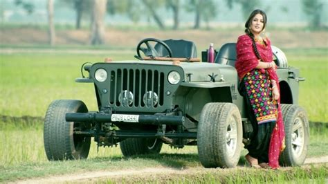 Punjabi Model With Jeep Car Wallpaper 04733 Baltana