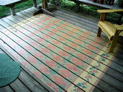 Outdoor Rugs For Decks by Top 10 Stencil And Painted Rug Ideas For Wood Floors