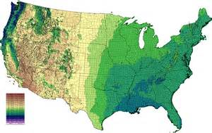 Annual precipitation in centimeters (Data from PRISM , based on 1971