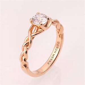 braided engagement ring no2 14k rose gold and diamond With braided wedding rings