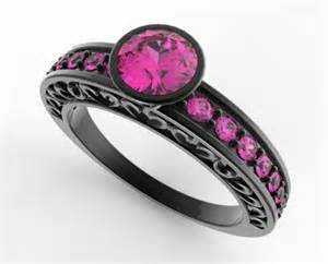 womens black wedding rings 39 s black gold pink sapphire wedding band vidar jewelry unique custom engagement and