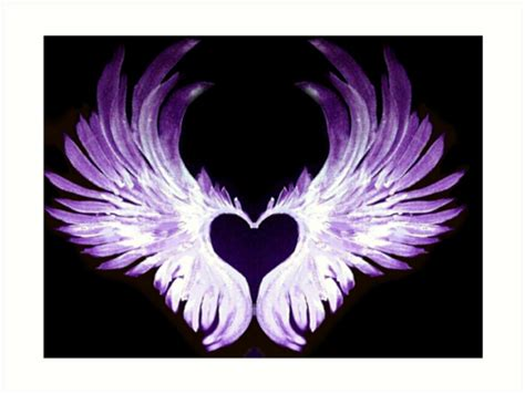 quot purple angel heart wings 2 quot art prints by atlasartsn redbubble