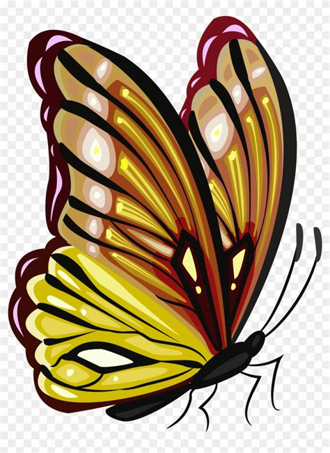 Monarch Butterfly Png Butterfly Image Yellow Png Clipart