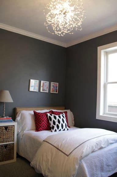 charcoal gray walls contemporary bedroom behr